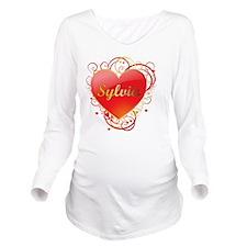 Sylvia-Valentines Long Sleeve Maternity T-Shirt