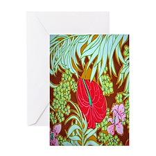 Hawaiian Print Greeting Card