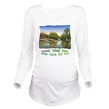 Sabino Canyon Pool o Long Sleeve Maternity T-Shirt