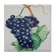 BIVORT F NOIR GRAPES Tile Coaster