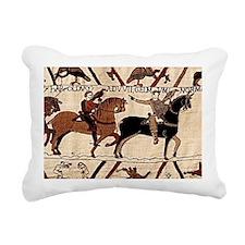 postcard_bayeux Rectangular Canvas Pillow