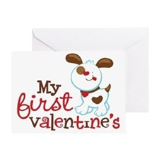 1stValentinesPuppy Greeting Card