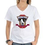 Brindle Bock Women's V-Neck T-Shirt