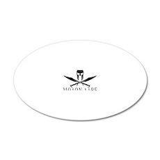Spartan_Helmet__Swords_Cross 20x12 Oval Wall Decal