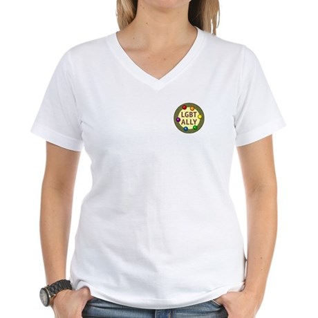 Ally Pocket Baubles -LGBT- Women's V-Neck T-Shirt