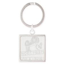 I Shoot People-white with cam Square Keychain