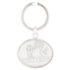 I Shoot People-white with cam Oval Keychain