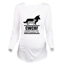 CWCHFshirtlogo Long Sleeve Maternity T-Shirt