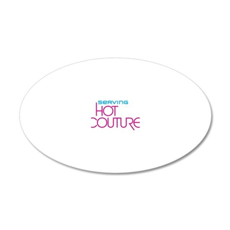 HotCouture_shirt 20x12 Oval Wall Decal