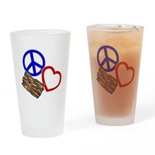 blue red, wh PL Bacon Drinking Glass