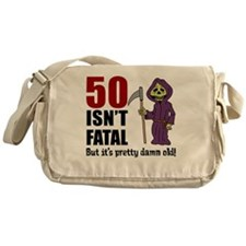 50 Isnt Fatal But Old Messenger Bag