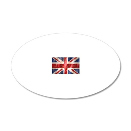475 Union Jack Flag large 20x12 Oval Wall Decal