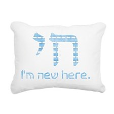 blue_and_white Rectangular Canvas Pillow