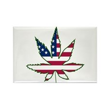 Pot Leaf Flag Rectangle Magnet
