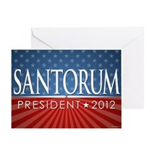 11x17_print_santorum_01 Greeting Card
