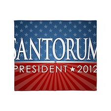11x17_print_santorum_01 Throw Blanket