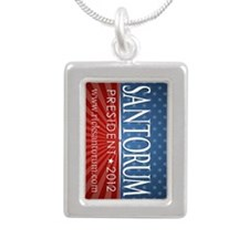 keychain_alum_santorum_0 Silver Portrait Necklace