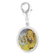 Cowardly_lion2-Dorothy-Wizard-O Silver Oval Charm