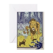 Cowardly_lion2-Dorothy-Wizard-Oz-190 Greeting Card
