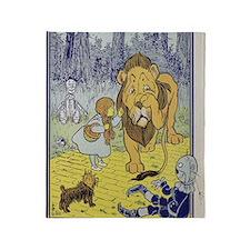 Cowardly_lion2-Dorothy-Wizard-Oz-190 Throw Blanket