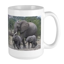 mother elephant and infants Mugs