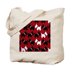 Scottie Dogs Red Tote Bag