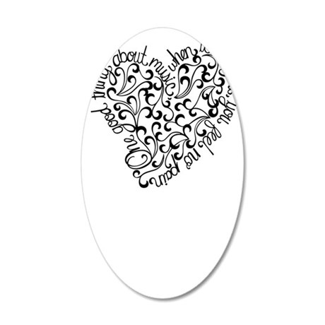 Stratten Lacey 35x21 Oval Wall Decal