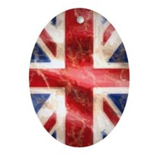 475 Union Jack Flag iPhone 3G case Oval Ornament