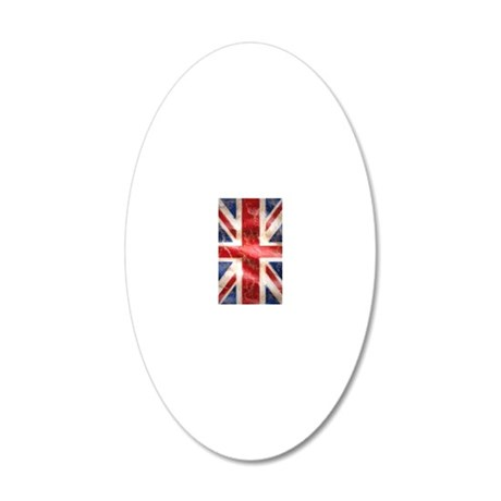 475 Union Jack Flag iPhone 3 20x12 Oval Wall Decal