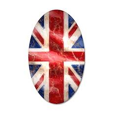 475 Union Jack Flag iPad 2 35x21 Oval Wall Decal