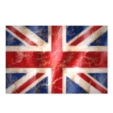 475 Union Jack Flag lapto Postcards (Package of 8)