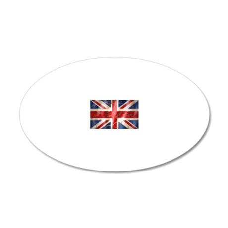 475 Union Jack Flag laptop s 20x12 Oval Wall Decal