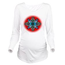 snake-eye medallion Long Sleeve Maternity T-Shirt