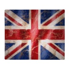 475 Union Jack Flag puzzle Throw Blanket
