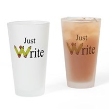 Just Write Drinking Glass