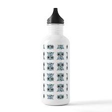 LittleBlueOwl_patternk Water Bottle