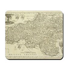 Laptop Skin - Vintage South Wales Map Mousepad