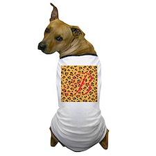 Personalizable Initial on Cheetah Print Dog T-Shir