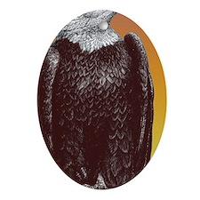 kalebs eagle copy Oval Ornament