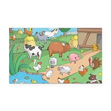 Farm Animals Rectangle Car Magnet