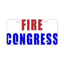 fire_congress_stacked Aluminum License Plate