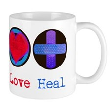 peace_heart_heal Small Mugs