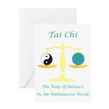 Green Book cover Tai Chi art work 1- Greeting Card