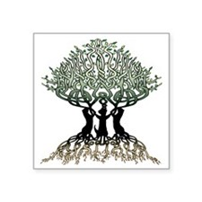 "Ferret Tree of Life 2 Square Sticker 3"" x 3"""