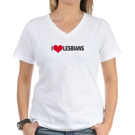 I Love Lesbians Women's V-Neck T-Shirt