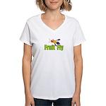 Fruit Fly Women's V-Neck T-Shirt