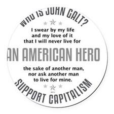 april11_john_galt_hero_6 Round Car Magnet