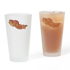 Bacon Or Wrong White Drinking Glass