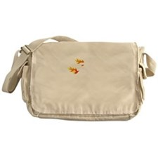 Non Flammable White Messenger Bag