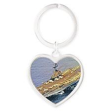 hancock lare framed print Heart Keychain